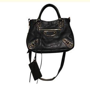 Balenciaga Metallic Edge Velo Crossbody Bag